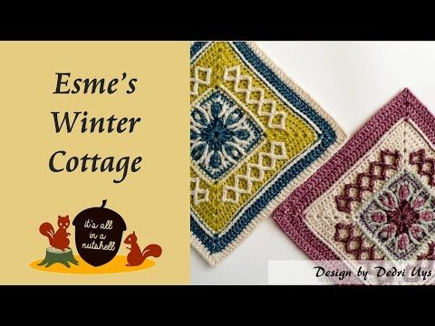 Esme\'s Winter Cottage - Crochet Square - YouTube | Tutoriales ...