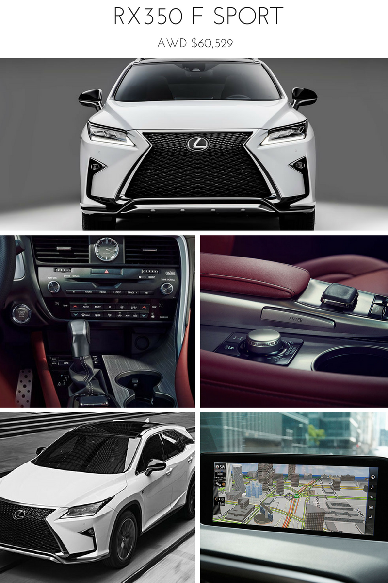 The AWD 2017 Lexus RX350 F SPORT in pictures... Lexus