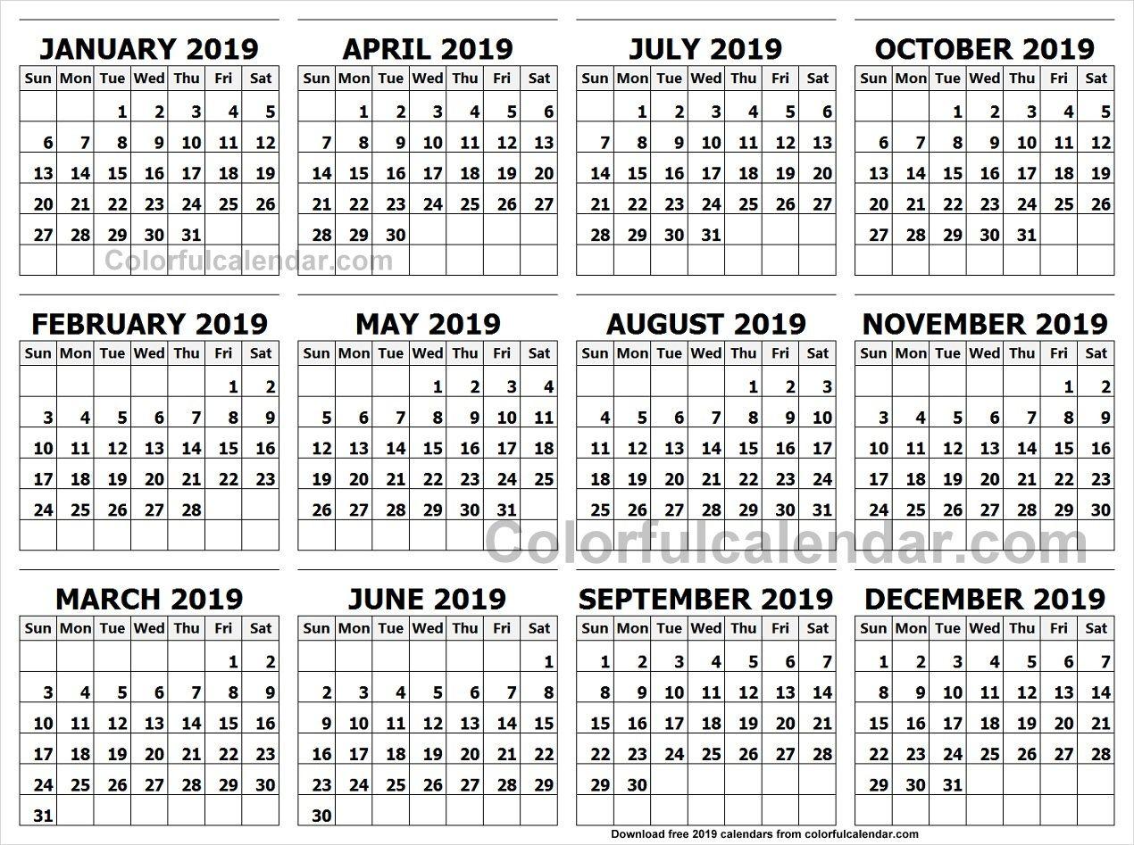 Landscape Calendar 2019 Calendar 2019 Landscape In Colour | 2019 Yearly Calendars