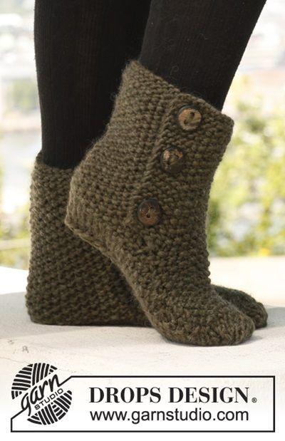 DIY 8 Knitted & Crochet Slipper Boots Free Patterns | Häckeln ...