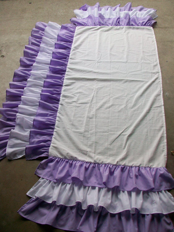 Solid 3 Tiered Ruffled Crib Skirt Fits Standard Cribs Aqua Waterfall Ruffles