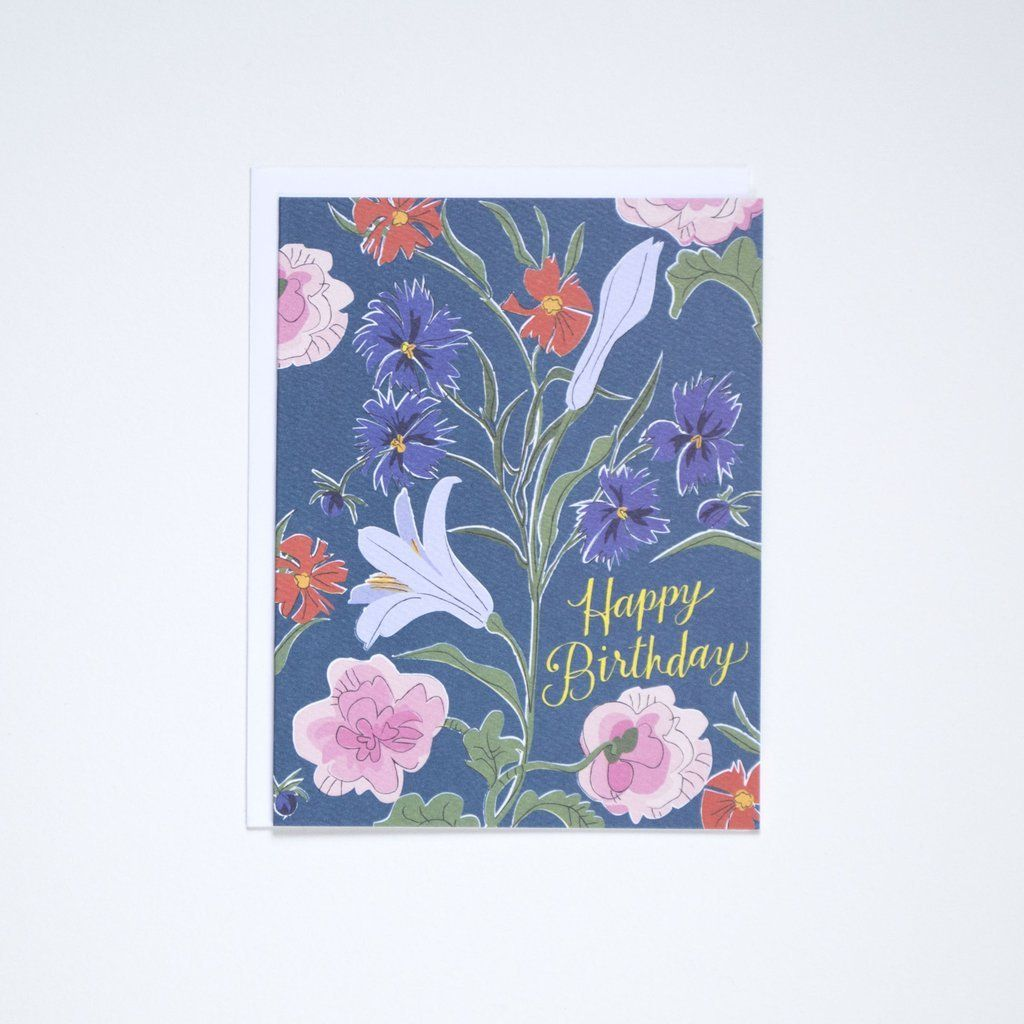 Card Happy Birthday flowers Happy birthday notes, Happy