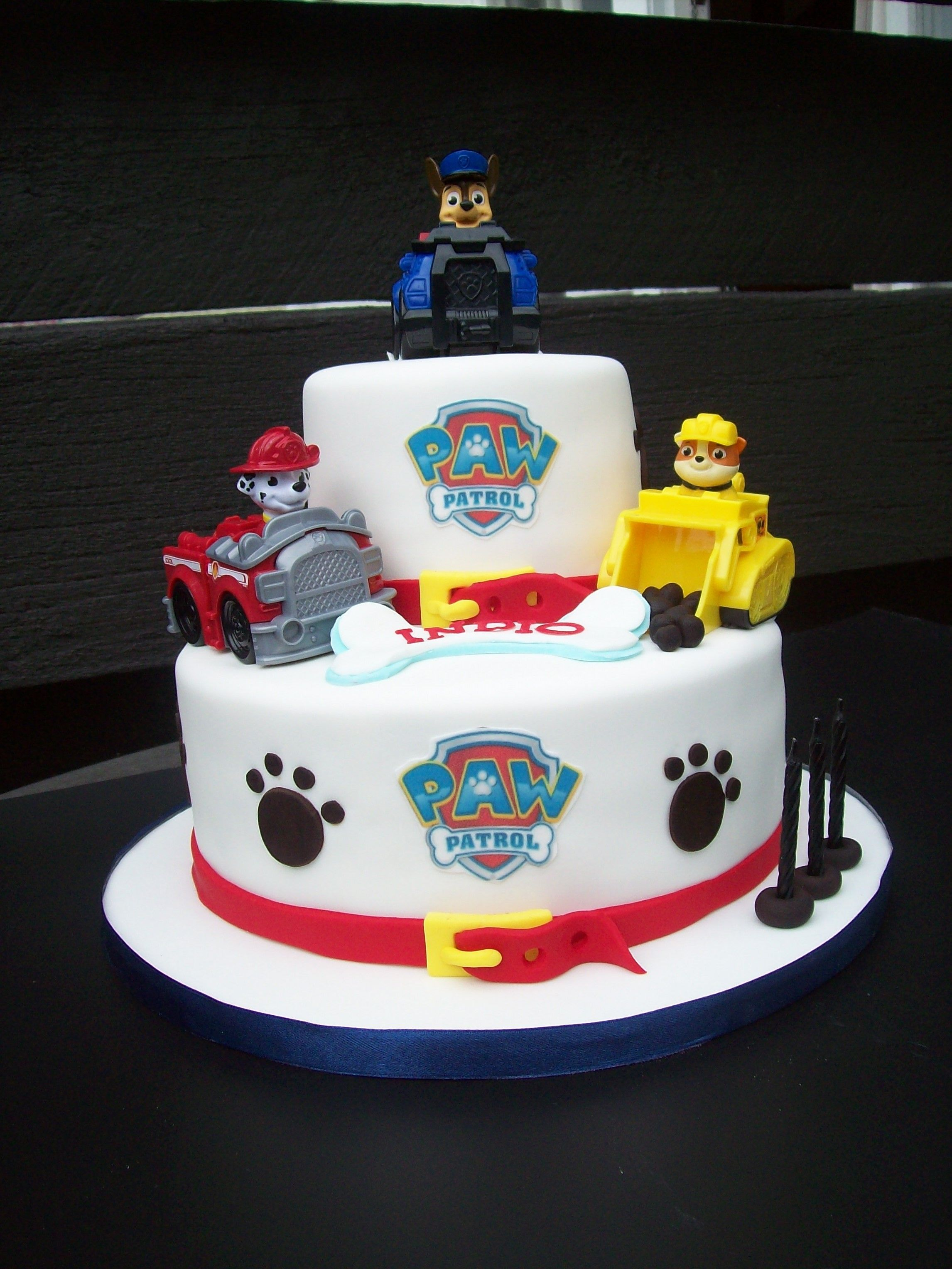 Paw Patrol Cake Auckland  Figurines Bought From A Licensed - Paw patrol birthday cake