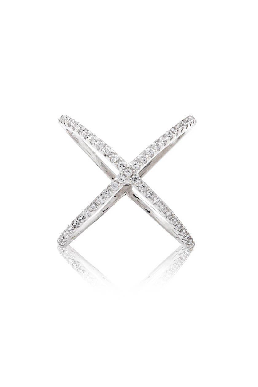 Cross Over Ring In Silver Nialaya Jewelry Accessories Diy Jewelry Silver Rings Pendant Jewelry