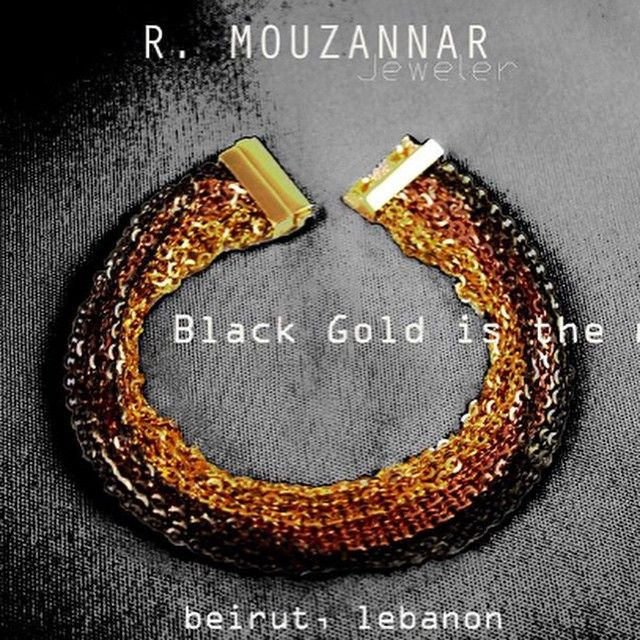 #blackgold#18kt #bracelet#mouzannar #jeweler #beirut #lebanon