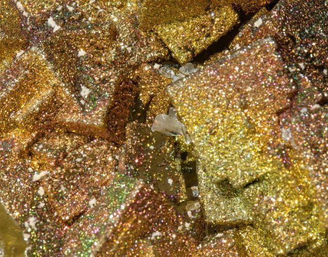 Pyrite with Fluorite and Calcite - Villabona Mines, Asturias, Spain