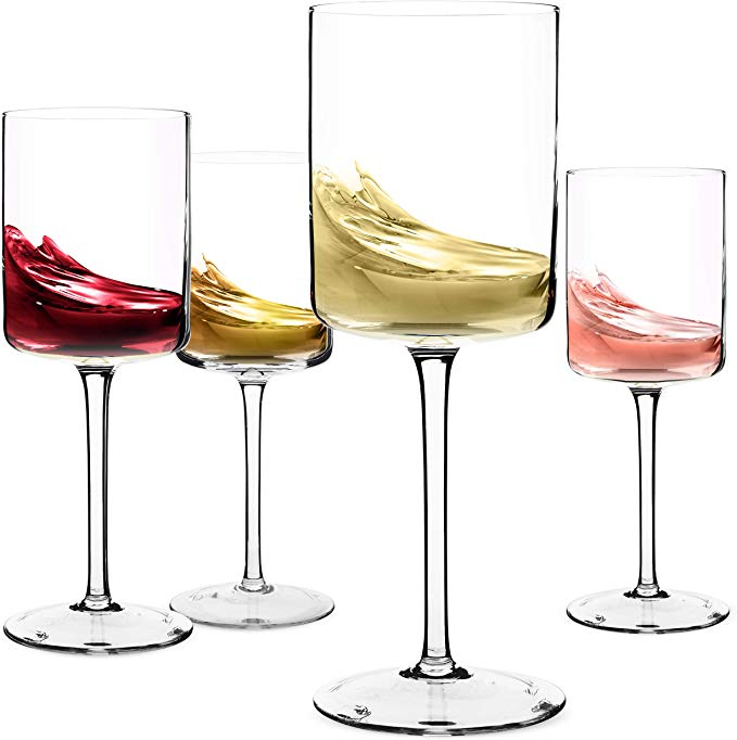 Amazon Com Wine Glasses Large Red Wine Or White Wine Glass Set Of 4 Unique Gift For Women Men Weddi White Wine Glass Set Fun Wine Glasses Wine Glass Set