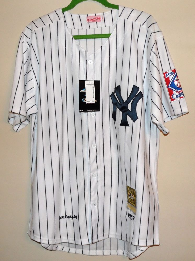 on sale 9d409 b2427 NEW Lou Gehrig New York Yankees Mitchell & Ness Throwback ...