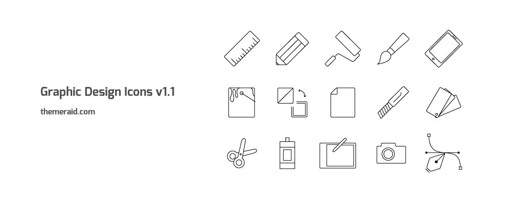 15 Graphic Design Icons Art Thin Line Style Icons In Vector Illustrator Format By Theme Raid Icon Design Graphic Design Graphic