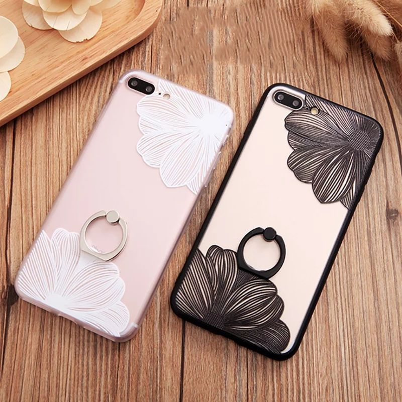 1 96 Emboss Lace Flower Hard Protective Case With Ring Holder For Iphone 6 6s 7 Plus Ebay Electronics Crystal Iphone Case Iphone Cases Crystal Iphone