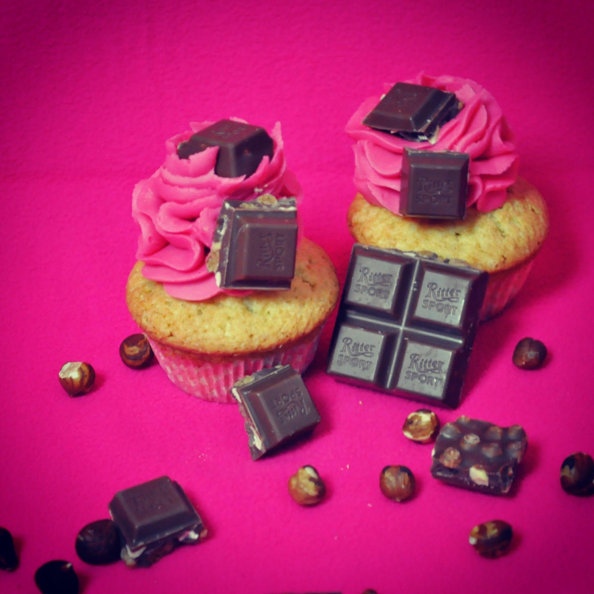 Ritter Sport VollNuss 🥜 Cupcakes dekoriert mit den