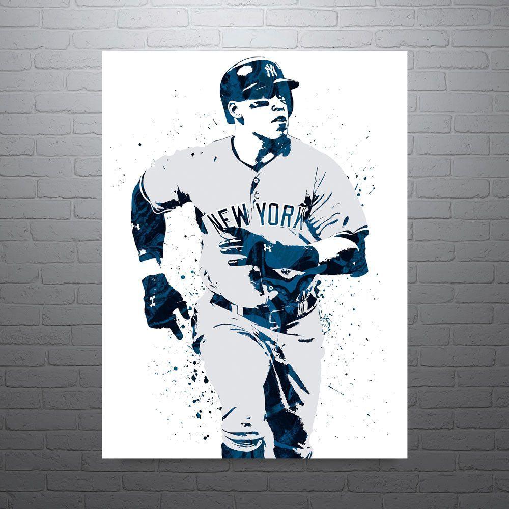 Aaron Judge New York Yankees Road Poster Sports Art Print Yankees Poster Baseball Posters