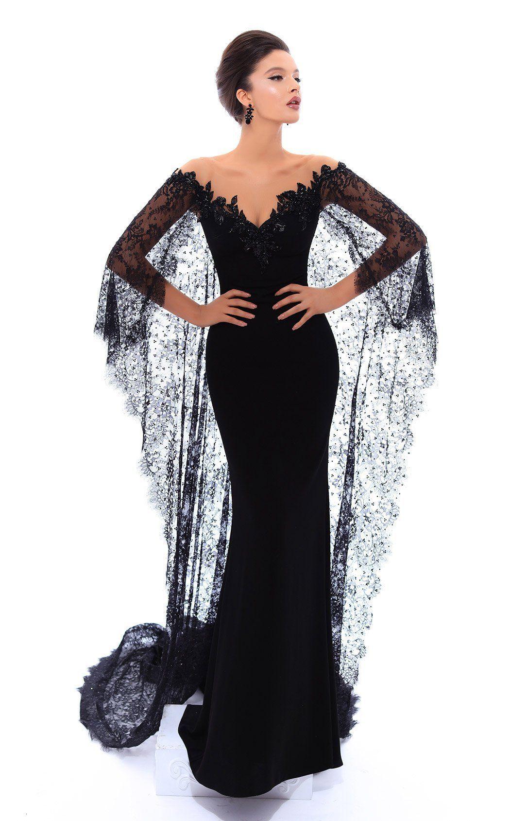 tarik ediz 93446   gothic wedding dress, evening dresses