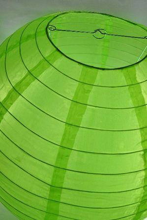 "Nylon Lanterns Bright Green 18"""