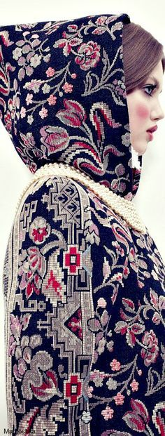 How to Rock The Coat / The House of Beccaria / High Fashion / Ethnic & Oriental / Carpet & Kilim & Tiles & Prints & Embroidery Inspiration /