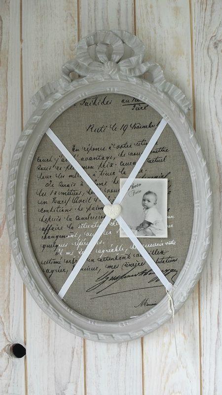 Ancien Cadre Ovale Noeud Pele Mele Decoration Cadre Cadre Deco Deco Campagne