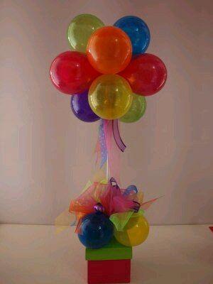 Ideas Con Globos Para Decoracion Fiestas Candyland Party Balloon Table Centerpieces Party Balloons
