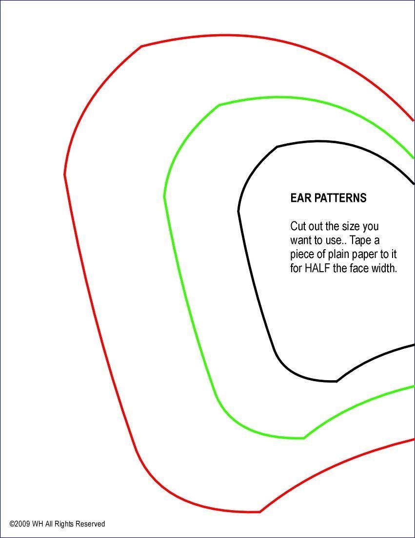 Elephant ear and trunk patterns | Templates | Pinterest | Elephant ...