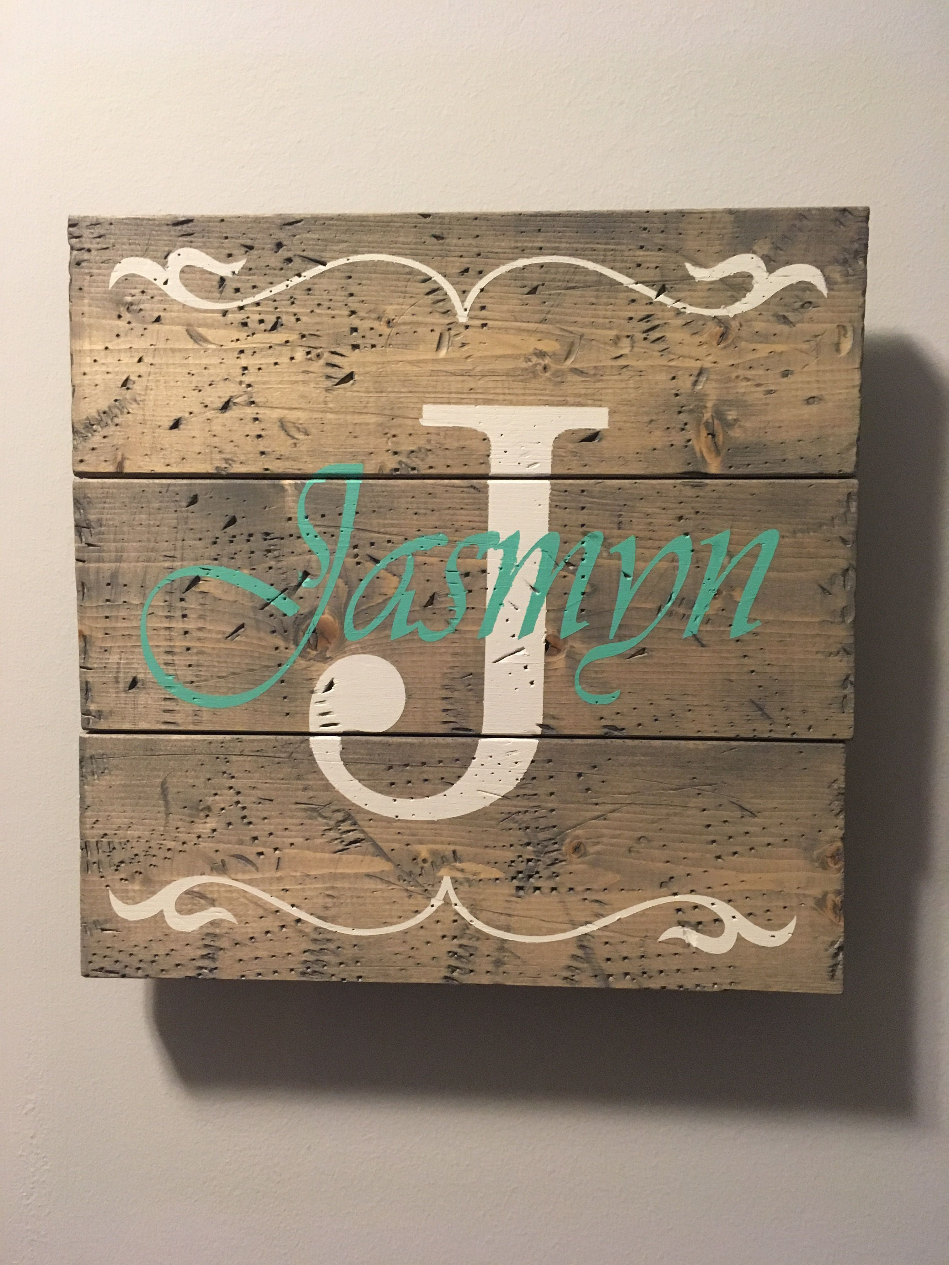 Rustic Large Nursery Name Arrow and Antlers personalized