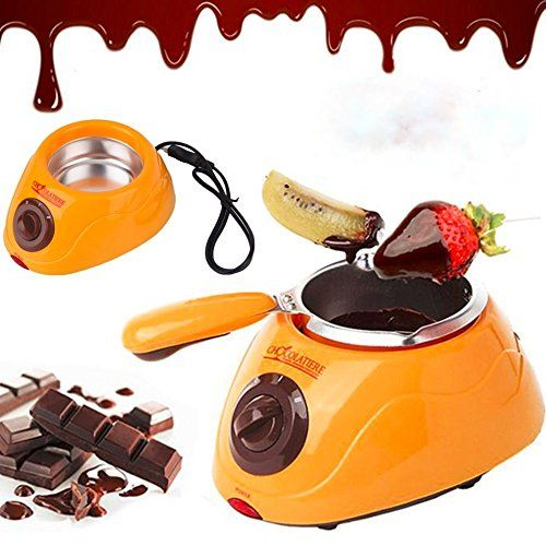 Chocolate Melting Pot Electric Chocolate Fondue Fountain Pot with over 30 Free