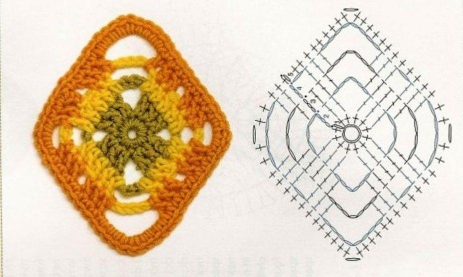 schemi uncinetto 58.jpg | Granny Squares | Pinterest | Tejido