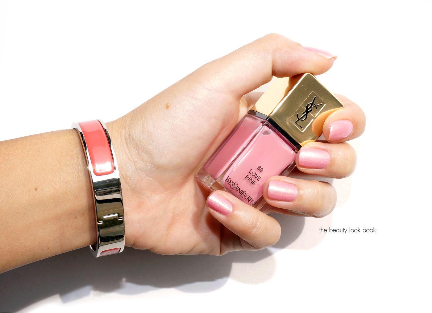 ysl nail polish love pink