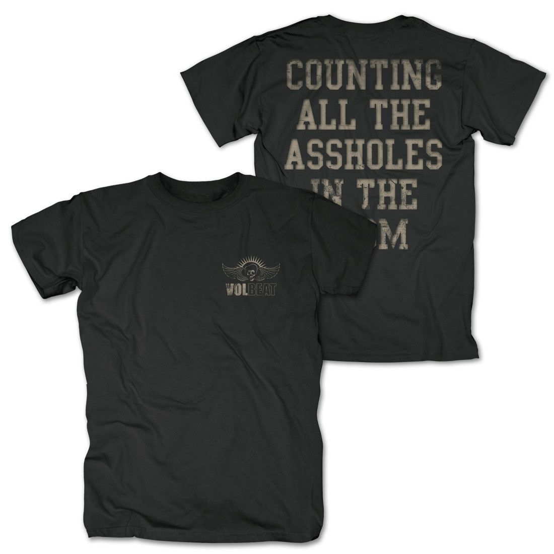 83451def385 Volbeat Counting All The Assholes T-Shirt Counting