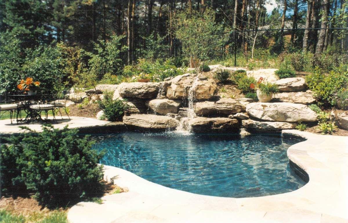 Dark Black Pools Concrete Hillside Pool Pool Backyard Pool