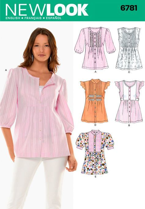 New Look Pattern: NL6781 Misses Top — jaycotts.co.uk :: Sewing ...