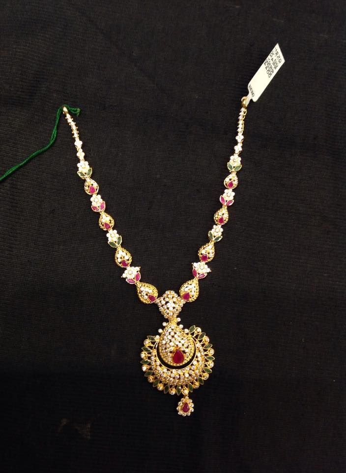 Gold Stone Short Necklace Model Short Necklace Necklace