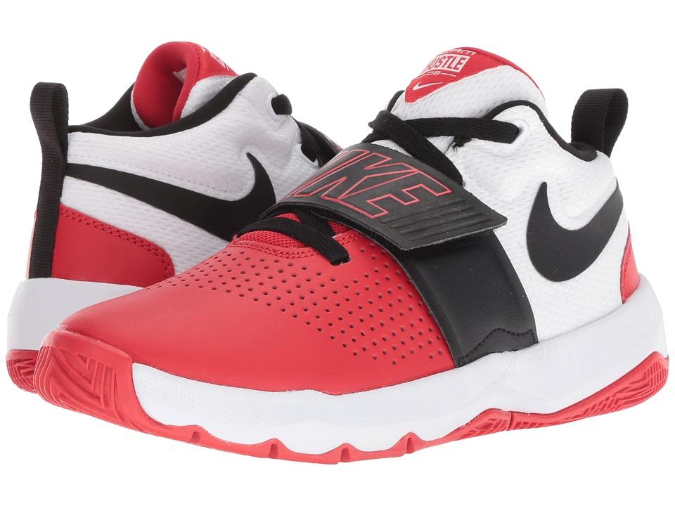 new arrival bc856 07047 Nike Kids Team Hustle D8 (Big Kid) Boys Shoes University Red Black White