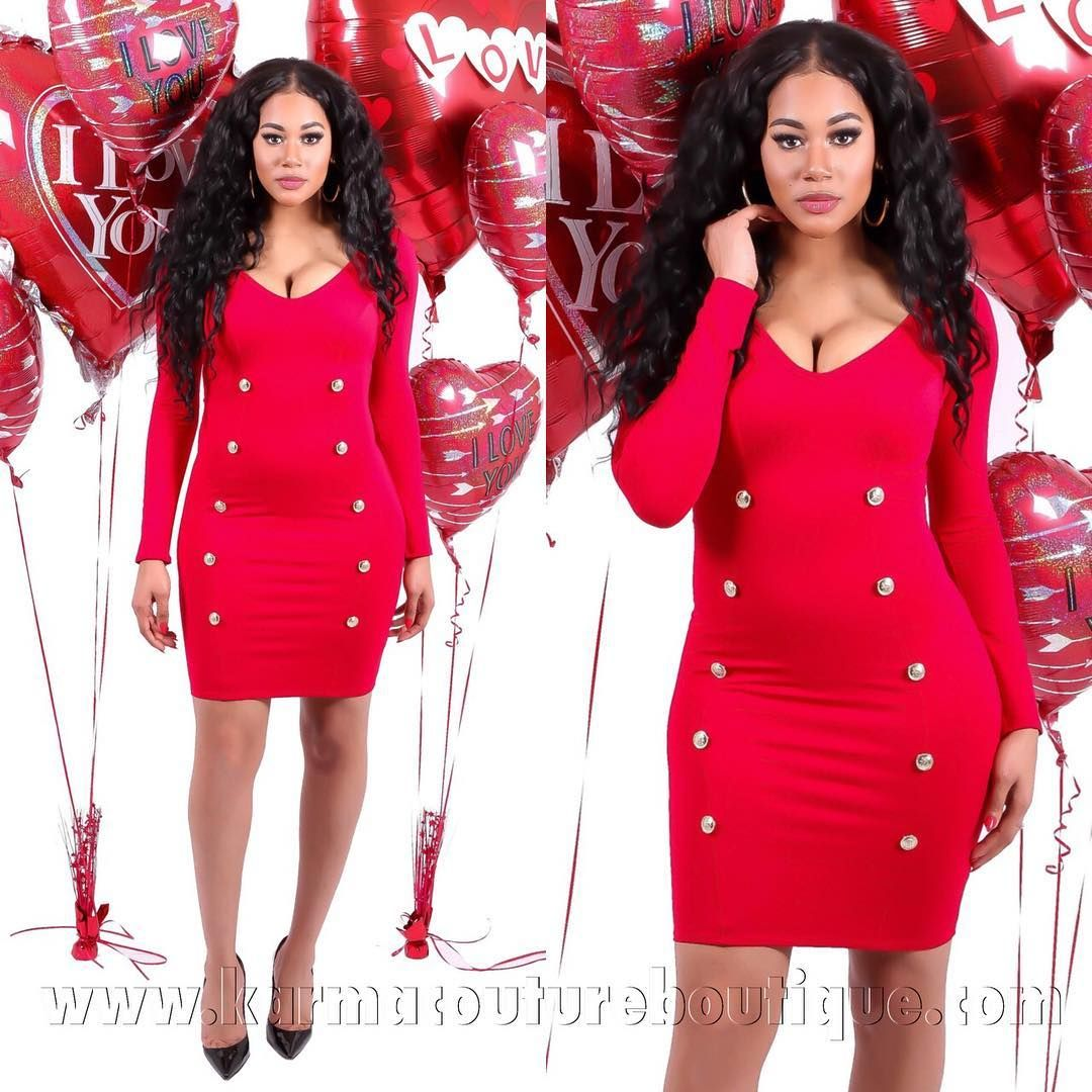 """""""Valentine's Day  Is Only Two Weeks Away Shop This Newbie Today! . .  Making The Cut Available in... Small Medium Large . .  MODEL IS 5'8 & HAS ON SMALL IN…"""""""