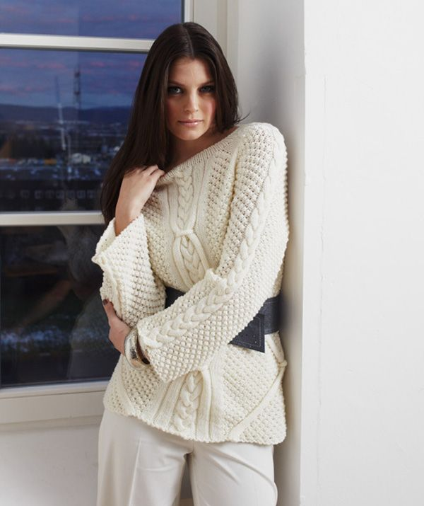 Ladies\' Cable Knit Sweater In 8/10   Kim   Pinterest   Tejido