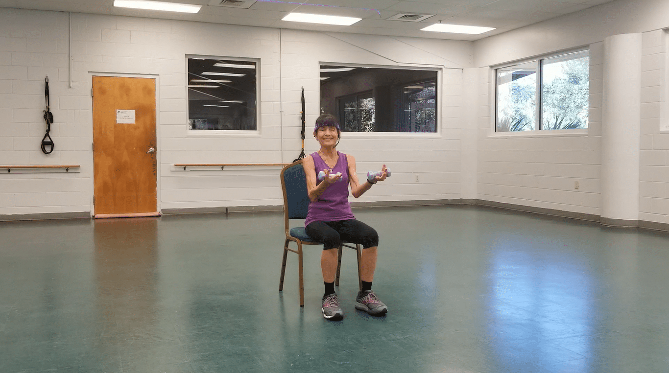Seated Strength Exercises For Seniors Fitness With Cindy
