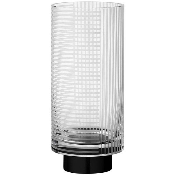 AYTM Vitreus Vase - Clear/Black - Small (115 CAD) ❤ liked on Polyvore featuring home, home decor, vases, clear, onyx vase, black vase, geometric home decor, czech crystal vase and crystal home decor