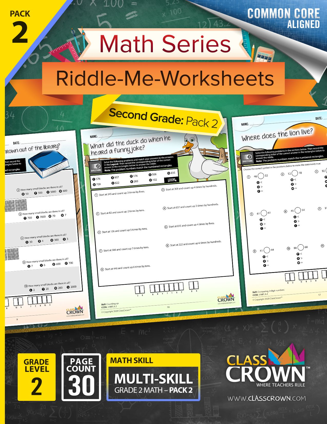 2nd Grade Math Worksheets With Riddles In