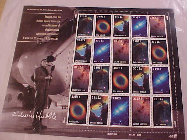 Hubble Space Images US Stamp Sheet 20x.33 cents Mint