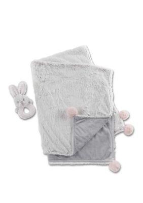 Photo of Baby Aspen™ Luxury Baby Blanket and Rattle Gift Set