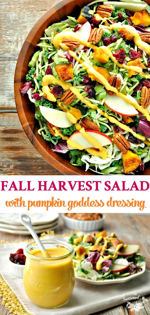Healthy Thanksgiving Side Dish: Fall Harvest Salad with Pumpkin Goddess Dressing