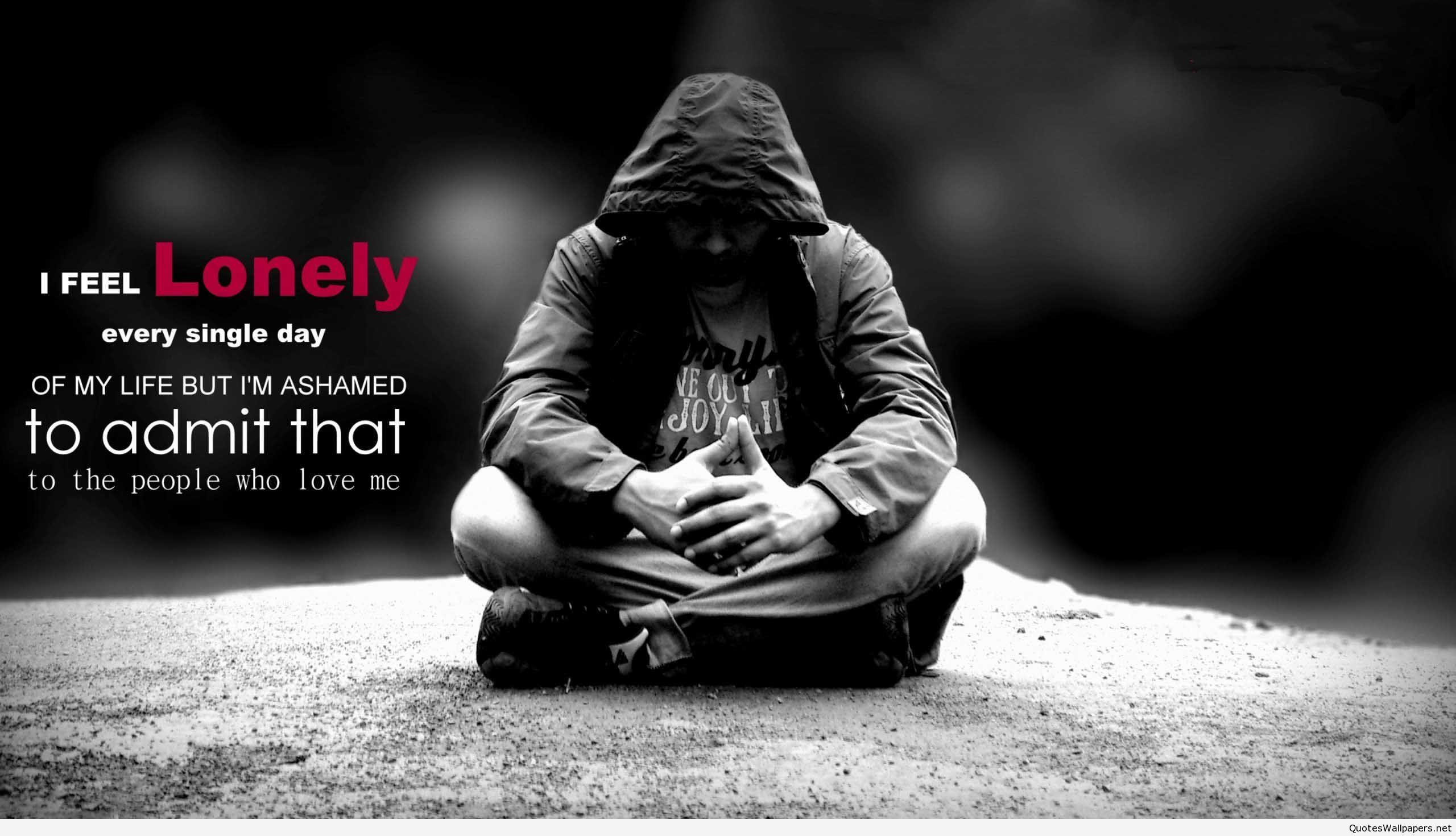 I Feel Lonely Hd Desktop Wallpaper Www Quotespics Net Feeling