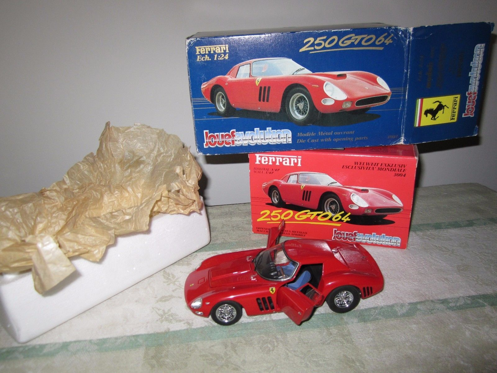 2 Jouef Evolution Ferrari 250 Gto 1964 124 143 Scale Diecast Wiring Harness Radio