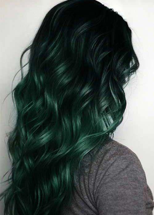 48+ Dark emerald green hair dye trends