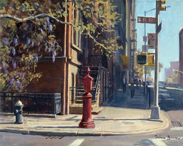 +91st+Street+at+Lexington+Avenue+(oil+on+canvas)++-+Julian++Barrow+