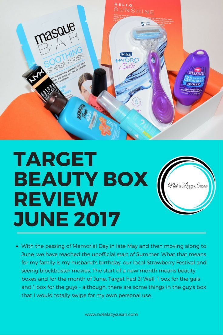 Target Monthly Box: Target Beauty Box Review June 2017 W/ Bonus Father's Day