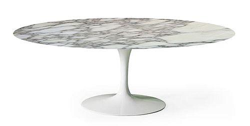 Tavolo Tulip da pranzo ovale o rotondo con piano in marmo ...