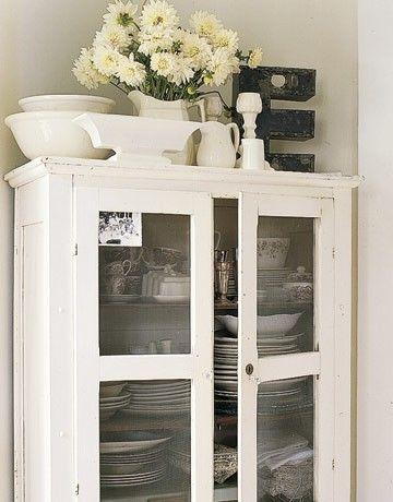 white hutch, pretty styling