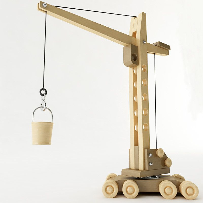 toy tower crane 3d model | Bridges and Building | Wooden toys, Toy
