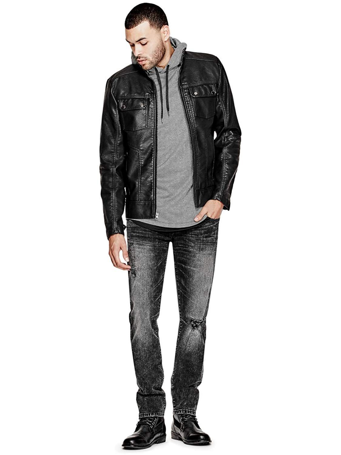 [Affiliate] G by GUESS Men's Sleek FauxLeather Jacket