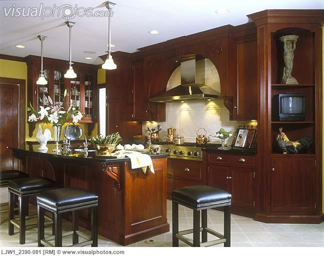 Cherry Cabinets with black Granite Countertops and tile ... on Backsplash Ideas For Black Granite Countertops And Cherry Cabinets  id=46317