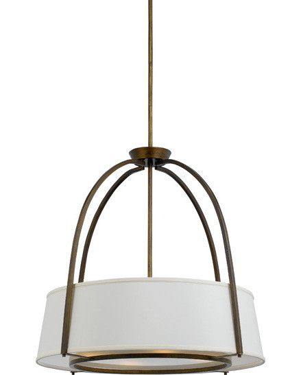 Quoizel Lighting Ya1830 Gd Yates Collection Four Light Pendant